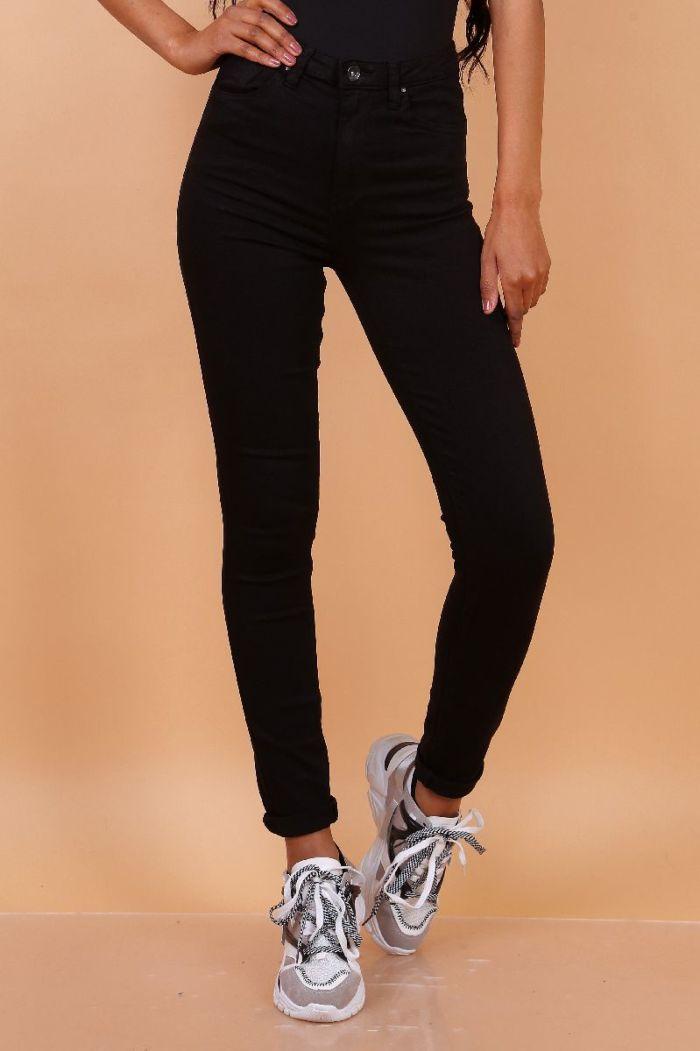 Toxik Jeans Skinny High Waist Black L185