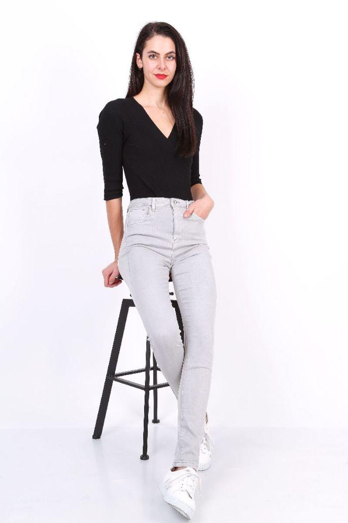 Toxik Jeans Skinny High Waist Grey