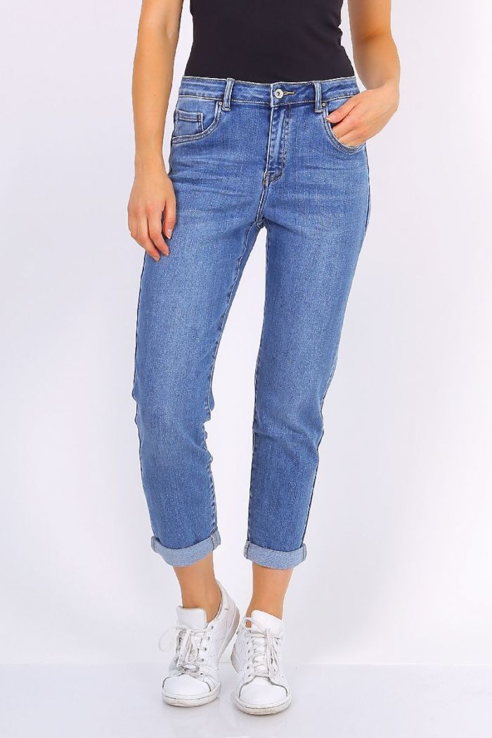 Toxik Jeans Boyfriend High Waist Blue L20029-3