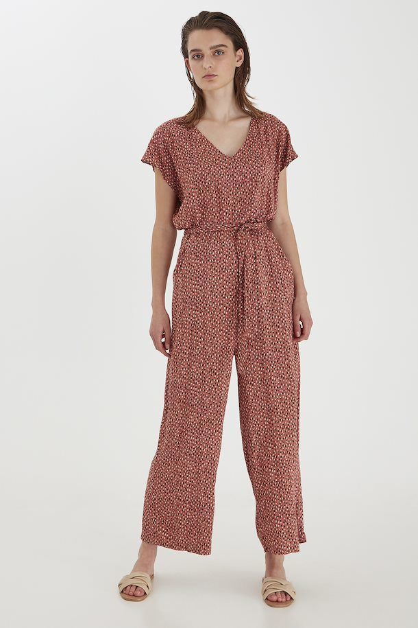 B.Young Jumpsuit Mjoella Etruscan Red Mix