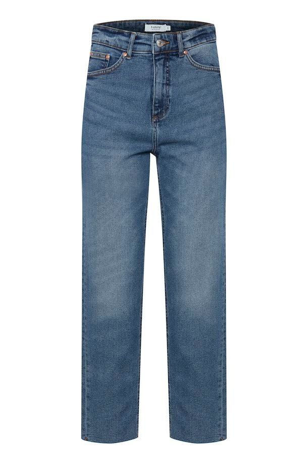 B.Young Jeans Kato By Lisa Staight Mid Blue Denim