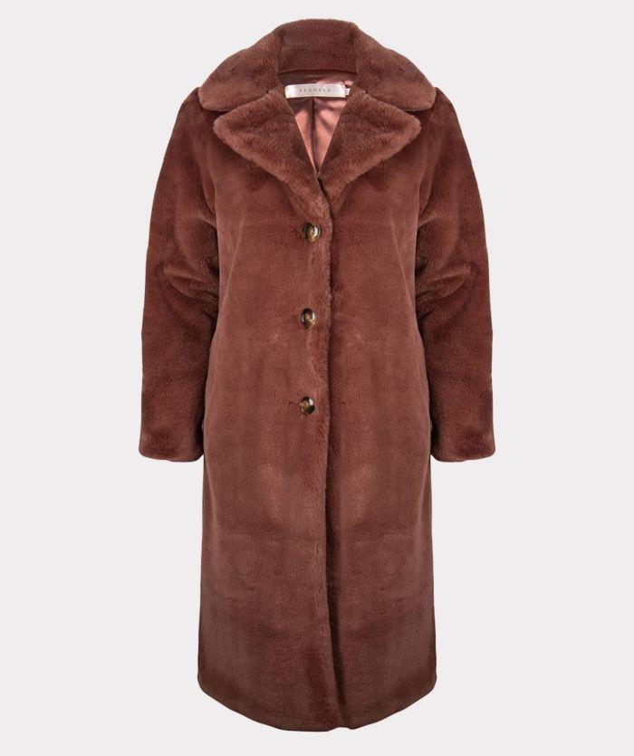 Esqualo Jas Long Fake Fur Marron
