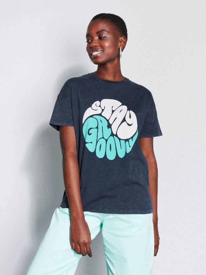 Catwalk Junkie T-shirt Groovy Dark Grey